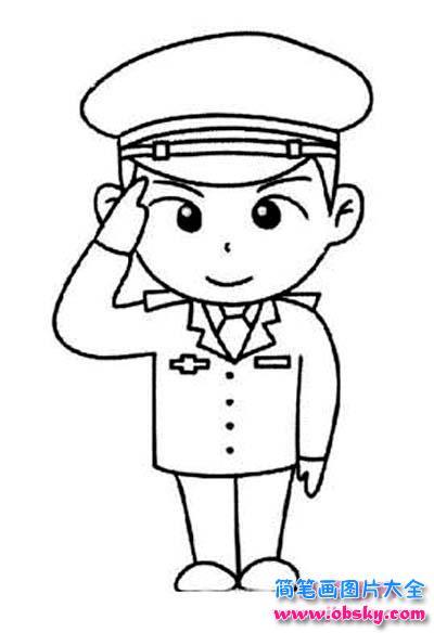 人民警察简笔画图片 警察 儿童简笔画图片大全