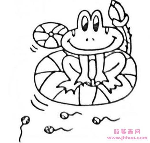 小学生蝌蚪与青蛙简笔画图片