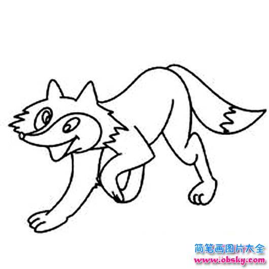 狡猾的狐狸简笔画图片 简笔画狐狸 儿童简笔画图片大全
