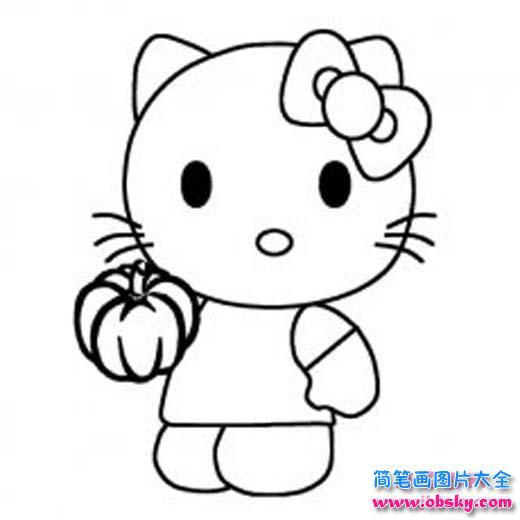 hello kitty猫怎么画 kitty猫简笔画图片