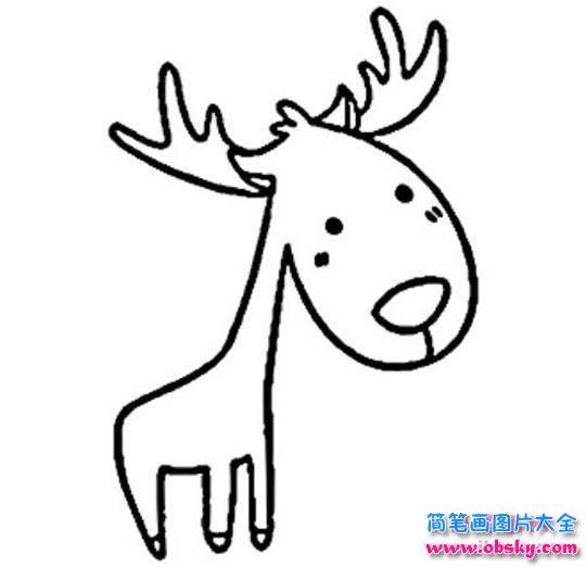 儿童卡通小鹿简笔画图片大全