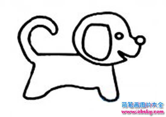 幼儿园小狗简笔画