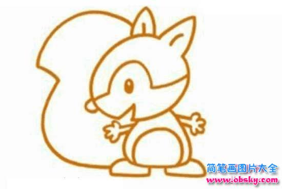 可爱小松鼠简笔画大全