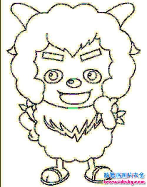 小学生沸羊羊简笔画图片