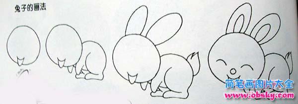 表情 兔子简笔画画法 简笔画兔子 儿童简笔画图片大全 表情