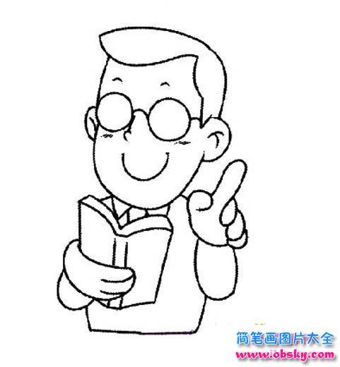 怎样画出教师的形象_老师简笔画大全 - 老师 - 儿童简笔画图片大全