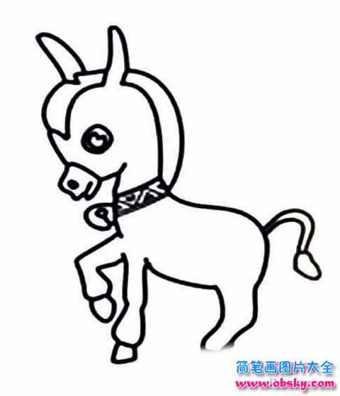 少儿可爱卡通小驴简笔画图片