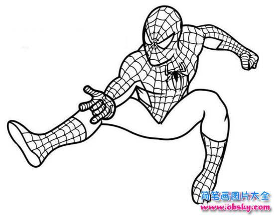 蜘蛛侠英雄归来简笔画图片