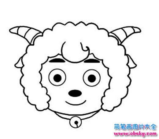 表情 喜羊羊头像简笔画图片 喜羊羊 儿童简笔画图片大全 表情