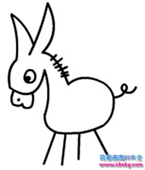幼儿园简单的小驴简笔画图片 简笔画驴 儿童简笔画图片大全