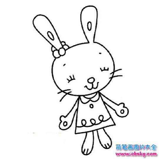 可爱漂亮的卡通小兔子 简笔画兔子 儿童简笔画图片大全
