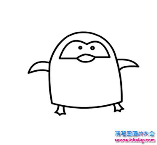 超萌可爱的小企鹅简笔画图片