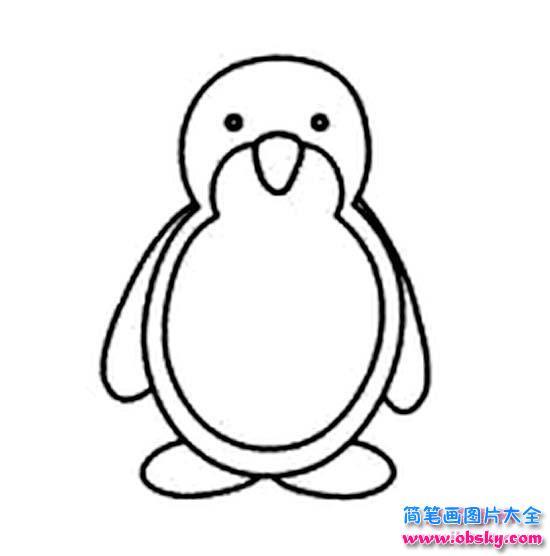 小企鹅简笔画图片