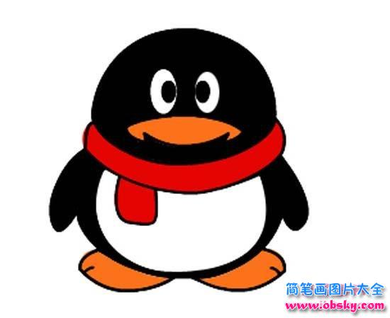 彩色qq企鹅简笔画图片