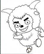 幼儿园沸羊羊简笔画图片