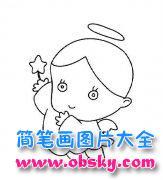 儿童可爱小天使简笔画图片大全
