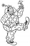 滑稽的小丑简笔画图片