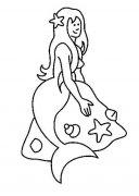 儿童简笔画:漂亮的美人鱼