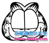 加菲猫头饰简笔画图片
