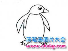南极企鹅简笔画图片