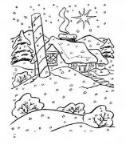 怎么画冬天雪中的房子简笔画的教程