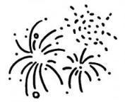 怎么画新年烟花大全简笔画的教程