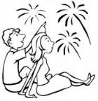 怎么画人物:看烟花的情侣简笔画的教程