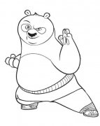 功夫熊猫简笔画图片