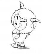 超萌可爱卡通沸羊羊简笔画图片