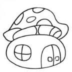 怎么画蘑菇房子简笔画的教程
