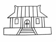 怎么画古代房子简笔画的教程