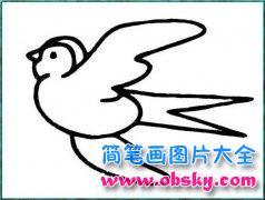 关于燕子的简笔画图片