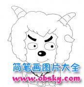 儿童线描沸羊羊简笔画图片