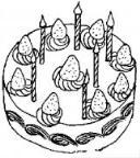 怎么画生日蛋糕蜡烛简笔画的教程