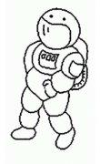 幼儿宇航员简笔画图片大全
