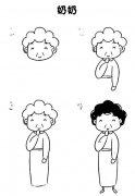 奶奶简笔画画法步骤:如何画老奶奶