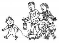 怎么画元宵节主题:一家人快乐过元宵简笔画的教程
