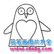 幼儿园企鹅简笔画图片