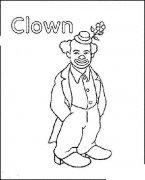 小丑正面全身简笔画图片