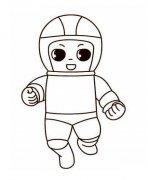 幼儿卡通宇航员简笔画图片