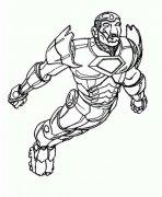 飞行的钢铁侠简笔画图片