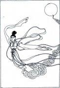 翩翩起舞的嫦娥简笔画图片
