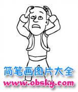 儿童卡通动漫人物简笔画图片:光头强