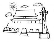 怎么画北京天安门简笔画的教程
