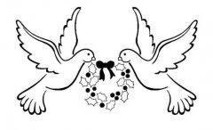 和平鸽标志图案简笔画