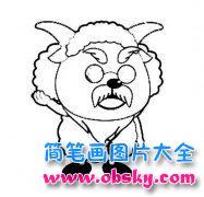 儿童卡通人物简笔画图片:慢羊羊