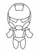 儿童卡通钢铁侠简笔画图片