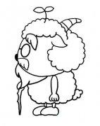 慢羊羊侧面简笔画图片