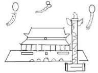 怎么画国庆节天安门简笔画的教程