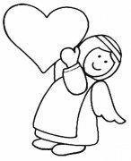 爱心天使简笔画图片